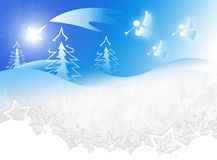 Kerstmisachtergrond stock illustratie