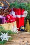 Kerstmisachtergrond 09 Stock Fotografie