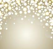 Kerstmisachtergrond. Abstracte gouden defocused bedelaars Stock Foto