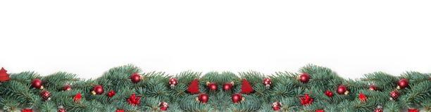 Kerstmisachtergrond, Banner stock afbeelding