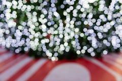 Kerstmisachtergrond bokeh Stock Fotografie