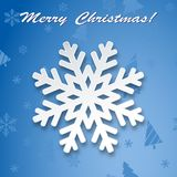 Kerstmisachtergrond, de Wintersneeuwvlok op Groetkaart stock illustratie