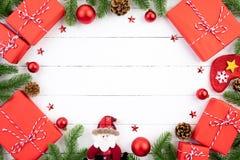 Kerstmisachtergrond en decoratieconcept stock fotografie