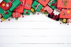 Kerstmisachtergrond en decoratieconcept stock afbeelding