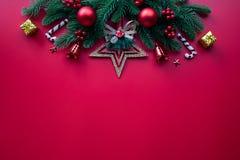 Kerstmisachtergrond en decoratieconcept royalty-vrije stock fotografie