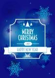 Kerstmisachtergrond, groetkaart of affiche met Typografie Royalty-vrije Stock Foto
