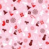 Kerstmisachtergrond, het naadloze betegelen, grote keus voor verpakkend document patroon Royalty-vrije Stock Foto