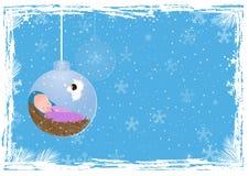 Kerstmisachtergrond met baby Jesus Royalty-vrije Stock Afbeeldingen