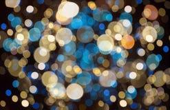 Kerstmisachtergrond met bokehlichten Royalty-vrije Stock Foto
