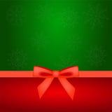 Kerstmisachtergrond met boog Stock Foto's