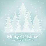 Kerstmisachtergrond met boom Stock Foto's