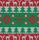 Kerstmisachtergrond met boom van wol wordt gemaakt die Stock Afbeeldingen