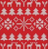 Kerstmisachtergrond met boom van wol wordt gemaakt die Stock Foto