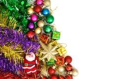 Kerstmisachtergrond met geïsoleerd op witte achtergrond Stock Afbeelding