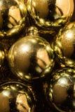Kerstmisachtergrond met goud Royalty-vrije Stock Foto's