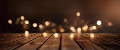 Kerstmisachtergrond met gouden lichten voor een decoratie Stock Foto's