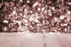 Kerstmisachtergrond met Gray Bright Glowing Lights royalty-vrije stock afbeelding
