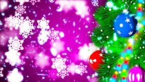 Kerstmisachtergrond met het aardige ballen 3D teruggeven Royalty-vrije Stock Afbeeldingen