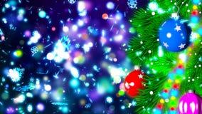 Kerstmisachtergrond met het aardige ballen 3D teruggeven Stock Afbeelding