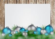Kerstmisachtergrond met kader Stock Foto's