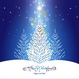 Kerstmisachtergrond met Kerstmisboom Royalty-vrije Stock Foto