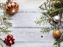 Kerstmisachtergrond met lege exemplaarruimte royalty-vrije stock foto's