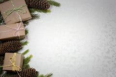 Kerstmisachtergrond met lege ruimte voor tekst royalty-vrije stock foto