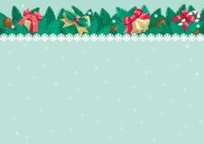 Kerstmisachtergrond met plaats voor tekst Stock Fotografie