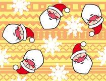 Kerstmisachtergrond met Santa Claus. Royalty-vrije Stock Afbeeldingen