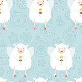 Kerstmisachtergrond met schapen Royalty-vrije Stock Foto's