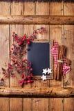 Kerstmisachtergrond met schoolbord Royalty-vrije Stock Foto's