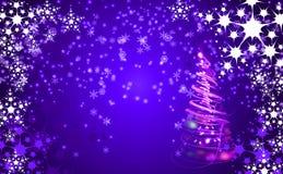 Kerstmisachtergrond met sneeuwvlokken Royalty-vrije Stock Foto