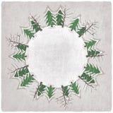Kerstmisachtergrond met snow-covered bomen vector illustratie