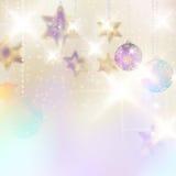 Kerstmisachtergrond met snuisterijen. Royalty-vrije Stock Foto's
