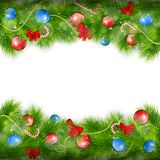 Kerstmisachtergrond met spartakken Stock Foto's