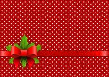 Kerstmisachtergrond met stippen Stock Fotografie