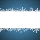 Kerstmisachtergrond met toespraakbel Vector Illustratie
