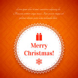 Kerstmisachtergrond met traditioneel Noors patroon Royalty-vrije Stock Foto