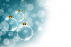 Kerstmisachtergrond met Transparant Royalty-vrije Stock Foto's