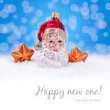 Kerstmisachtergrond - Santa Claus Royalty-vrije Stock Afbeeldingen