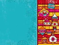 Kerstmisachtergrond van de kleur Stock Foto