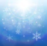 Kerstmisachtergrond van de winter royalty-vrije illustratie