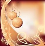 Kerstmisachtergrond van Grunge Stock Foto