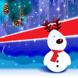 Kerstmisachtergrond van het sneeuwrendier Stock Foto