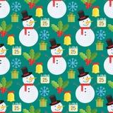 Kerstmisachtergrond, vector naadloos patroon Royalty-vrije Stock Foto's