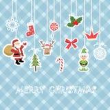Kerstmisachtergrond voor jong geitje Stock Afbeelding