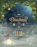 Kerstmisaffiche. royalty-vrije illustratie
