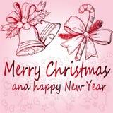 Kerstmisaffiche, mooi decor Stock Afbeeldingen