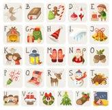 Kerstmisalfabet Stock Foto