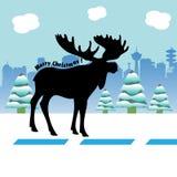 Kerstmisamerikaanse elanden Royalty-vrije Stock Fotografie